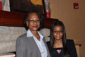 Cierra Crawley with Dr. Cynthia Cockerel
